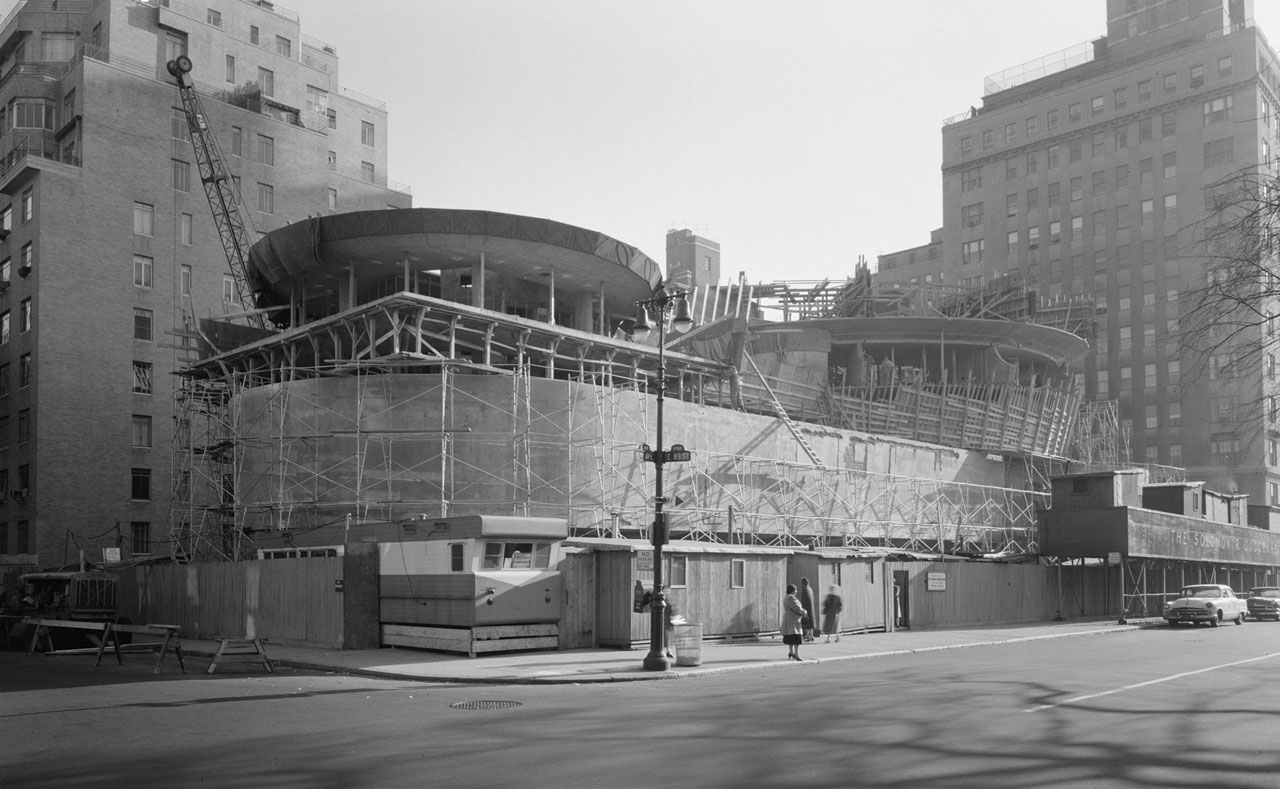 Guggenheim Museum ny construction site