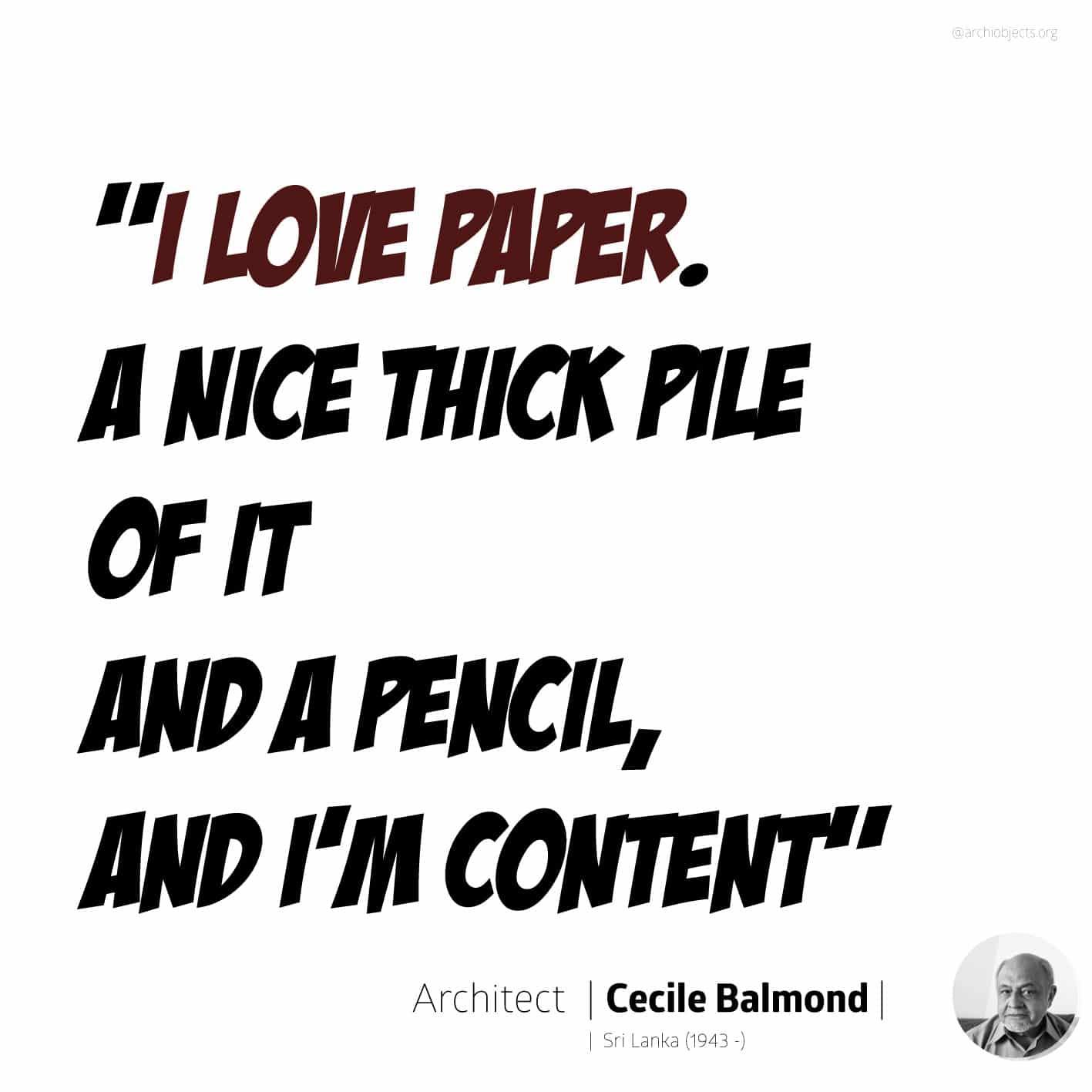 cecile balmond quote