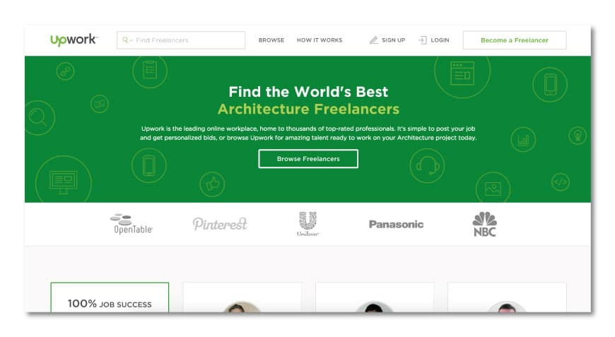 Upwork for freelance architects