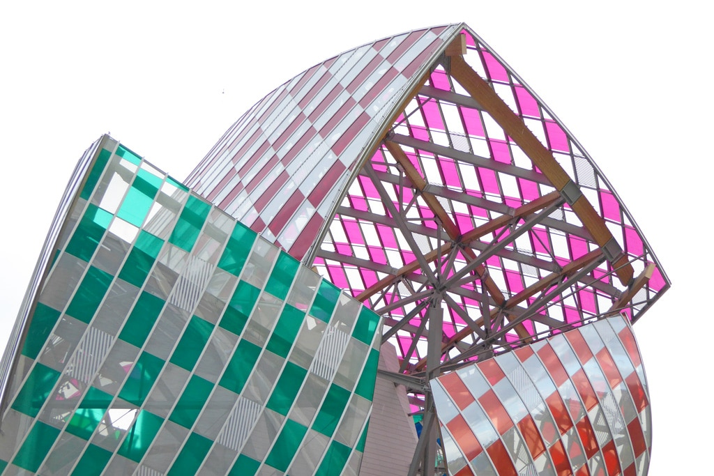 Daniel Buren colorful installation