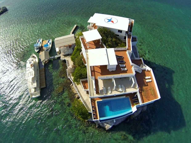 resort built on a rock