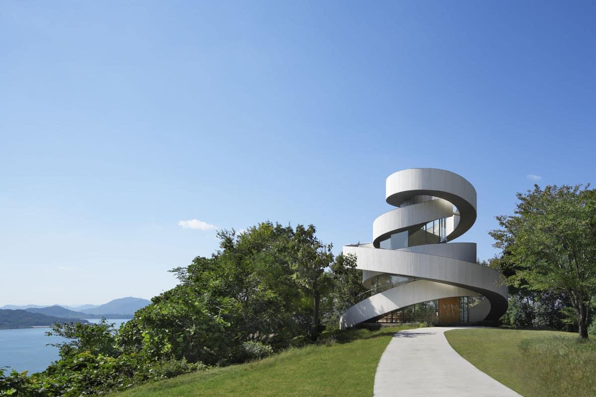 Ribbon Chapel by Hiroshi Nakamura and NAP Architects, Photo by Koji Fujii and Nacasa & Partners Inc