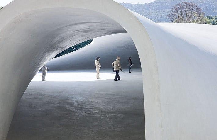 Teshima Art Museum by Ryue Nishizawa, Photo by Iwan Baan