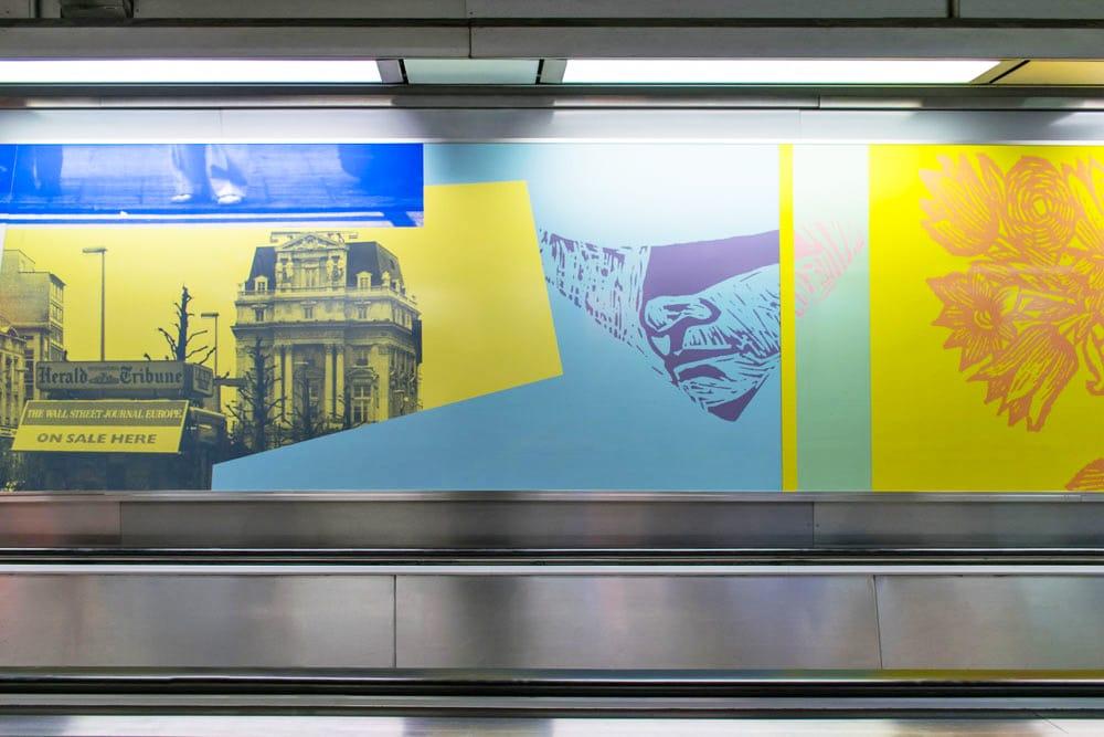De Brouckere Metro in Brussels Belgium