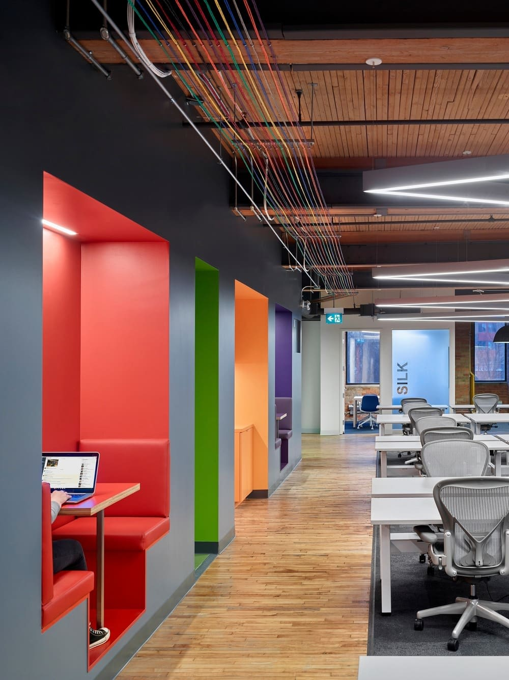 Slack Toronto Office cabins